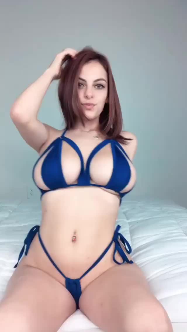 strappy and blue