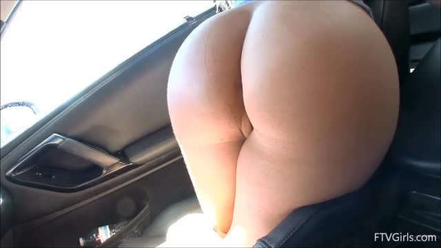 cara touching herself while getting her car washed [gif]