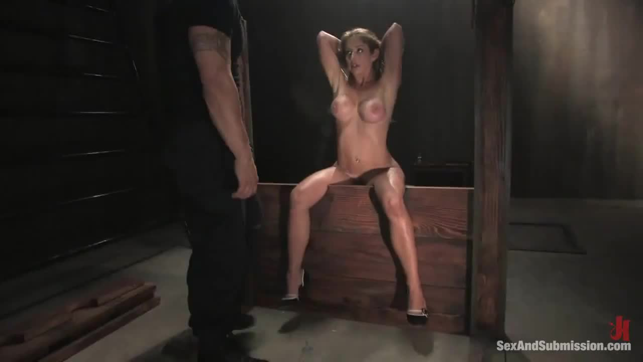 Master told her the pillory would make it easy to put the butt plug in ... he did not tell her it would be easy for HER ...