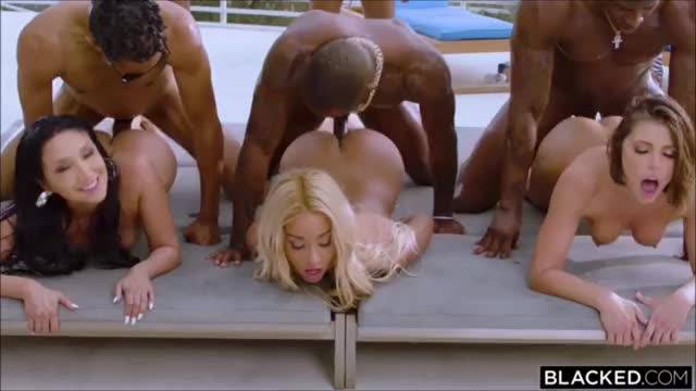 stunning sexy Bad Doxies fucked by Huge afro Rods Outdoor HD
