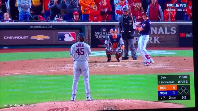 flashing at the World Series - Behind Home Plate at WS