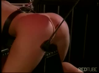 Tied Submissive Blonde Punished in BDSM