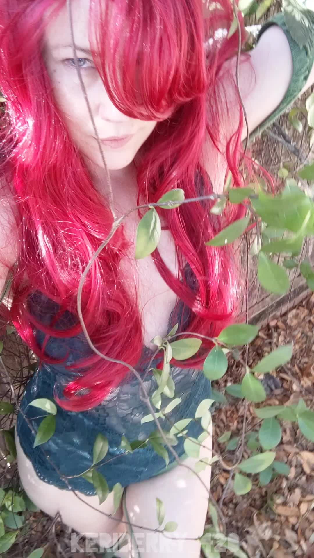 Cum into my garden🌿[Self] Keri Berry as Poison Ivy... Just trying this outfit on, no makeup done yet 😁