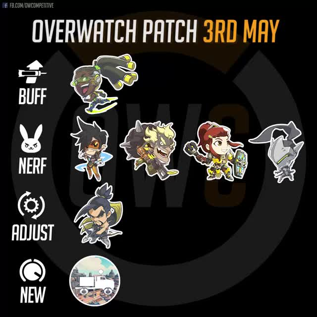 Watch Overwatch Patch 3rd May 2018 GIF by itsjieyang (@its_southpaw) on Gfycat. Discover more brigitte, genji, hanzo, junkrat, lucio, overwatch, rialto, tracer GIFs on Gfycat