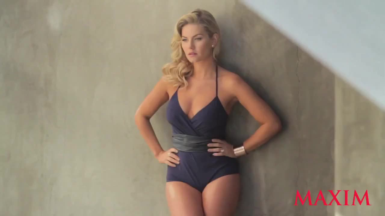 Elisha Cuthbert sexy Maxim photo shoot video