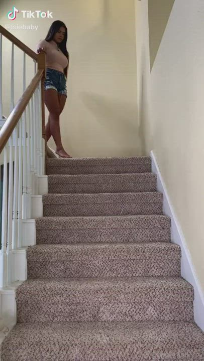Bouncing down the stairs