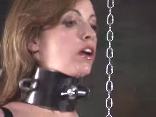 Training the new slave girl, shocking