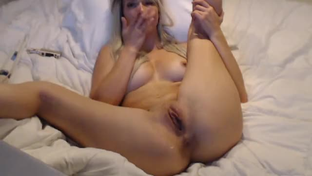 golden-haired Malena Morgan Fisting Herself On Web camera