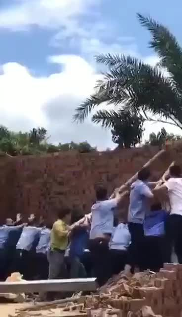 Watch Demolition went wrong (somewhere in China) GIF by @cxunth on Gfycat. Discover more related GIFs on Gfycat