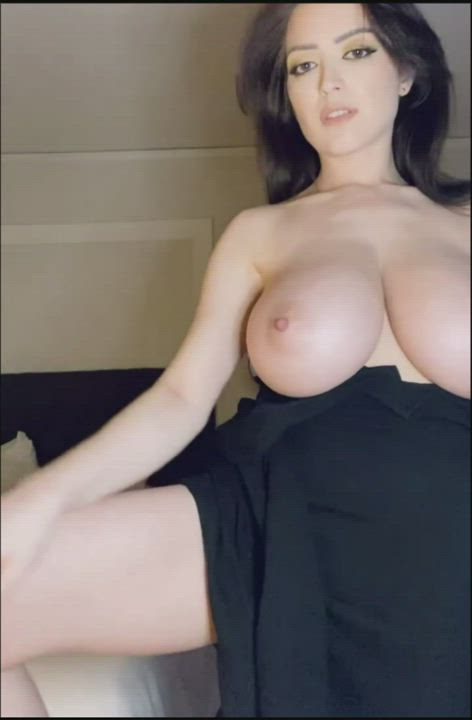 Undresses before bed