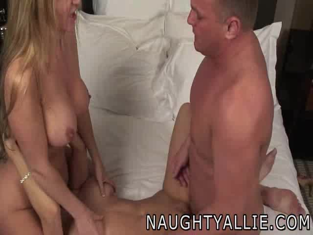 hotwife threesome, cumshot + cum play fun