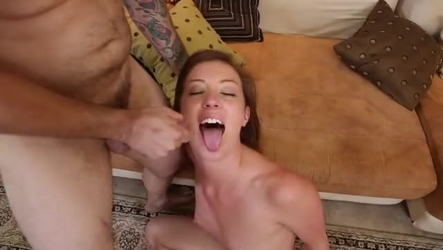 Young Teen loves facial decoration and cum swallowing