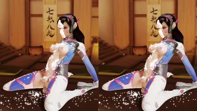 d.va hands free cumming in cardboard cg