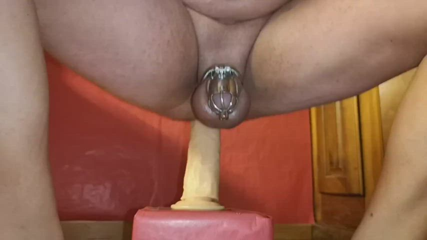 Cumming Hard Witn New Dildo (29,5x6,3cm) In Chastity Porn GIF by this siteporn79