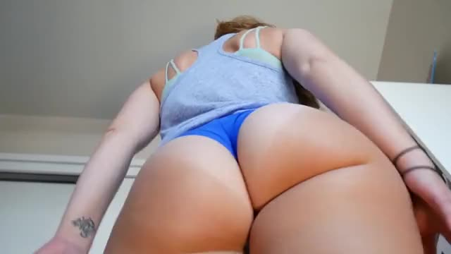 looking up at some butt