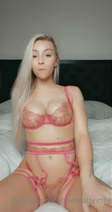 Therealbrittfit Pink See Through Lingerie