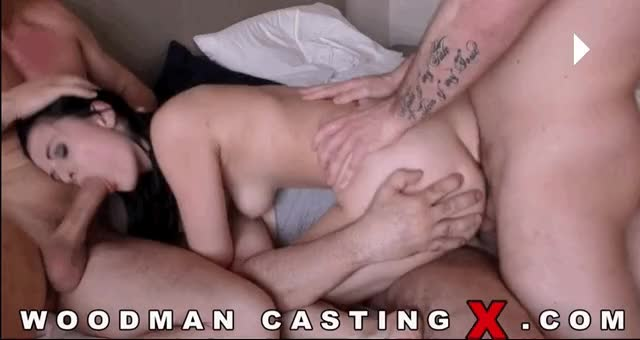 all three holes, filled with dicks