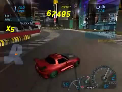 Need for Speed Underground drifting 600 000 points