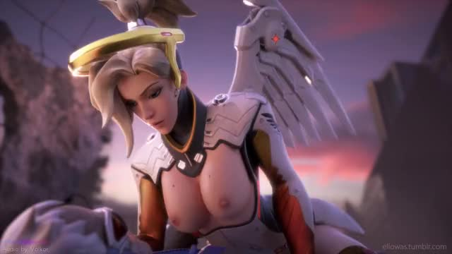 Mercy Climax from riding Soldier 76