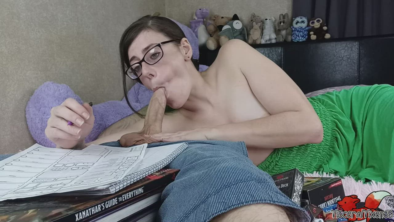 OC: Doing nerdy things just makes me so horny!