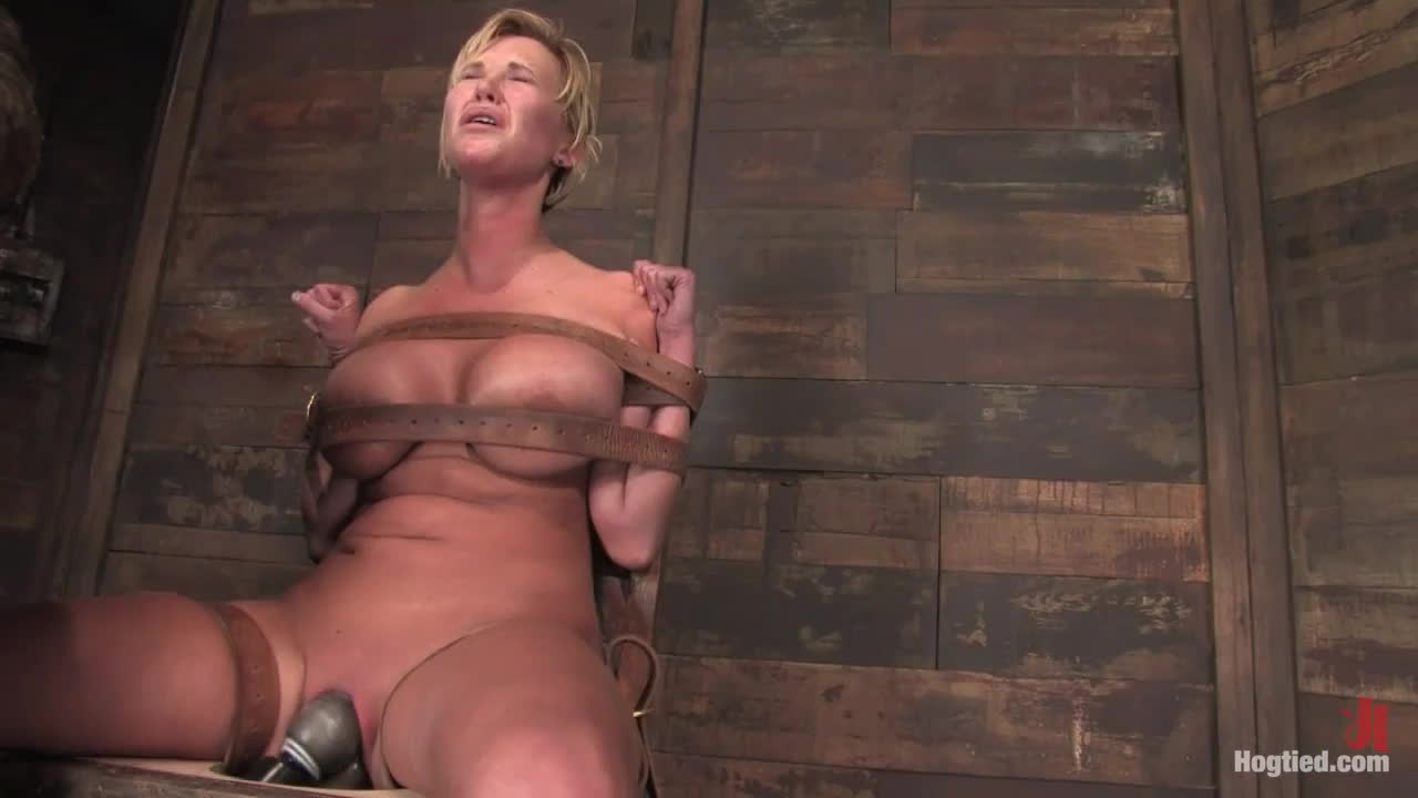 Big-breasted pixie gets the dildo wand combo