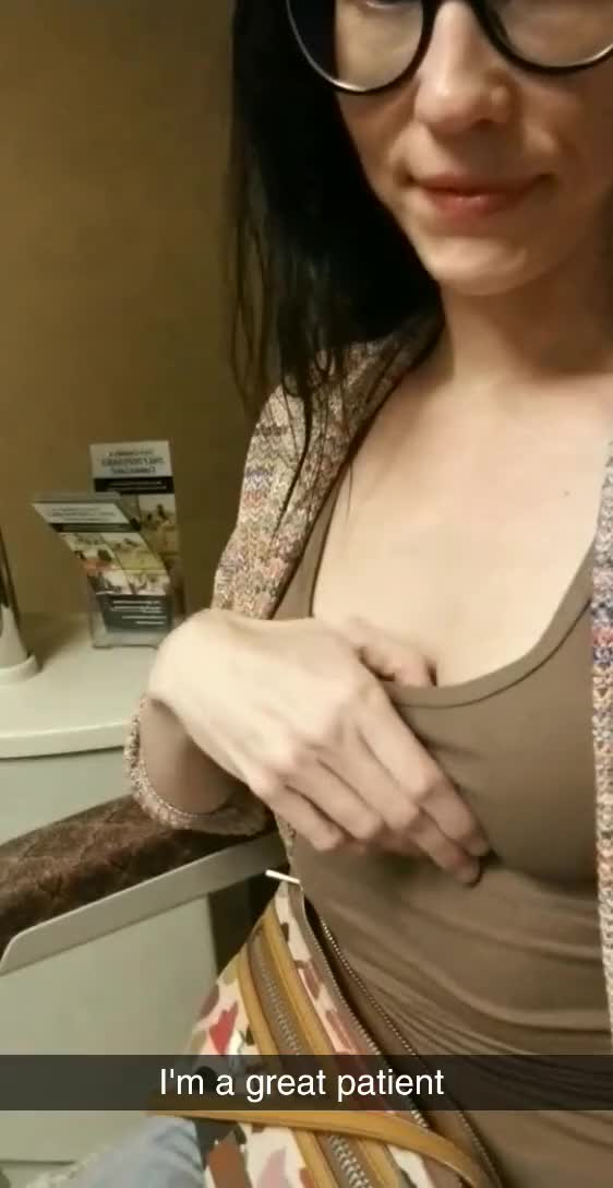 My little tits at the optometrist office (gif)