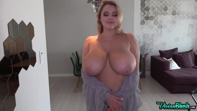 vivian Blush bouncing her huge enormous naturals GIF by