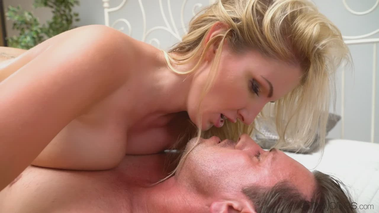 British slut Georgie Lyall rides her man and milks the cum out of his cock