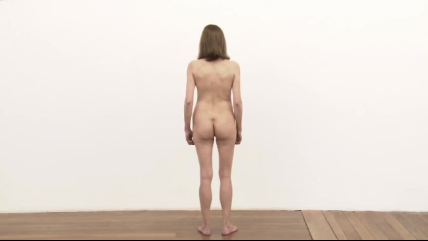 """This """"performance art"""" is literally a naked woman stood immobile in a room, with a voiceover"""