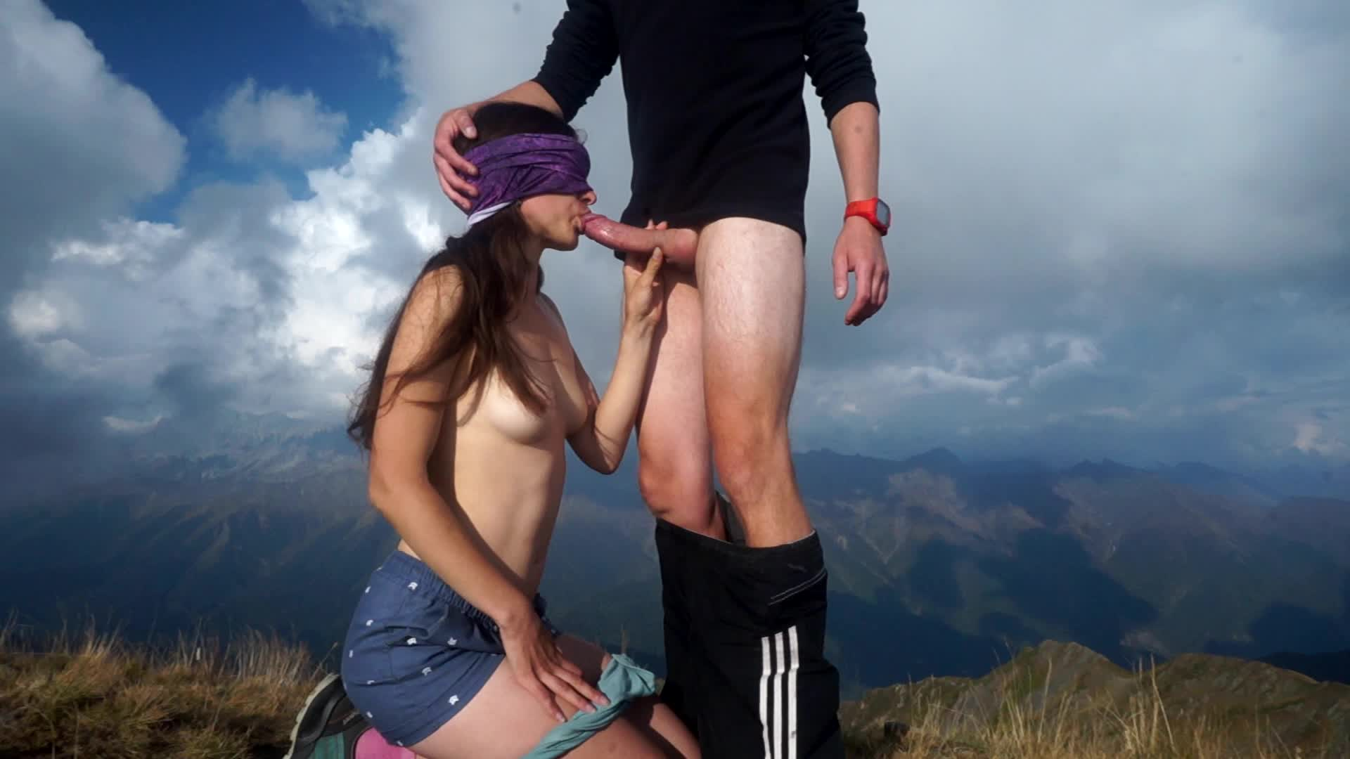 Blowjob On A Mountain Top