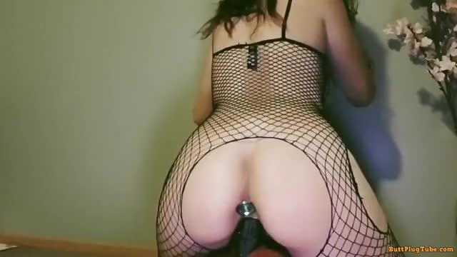 sliding Off Her Large Sex toy