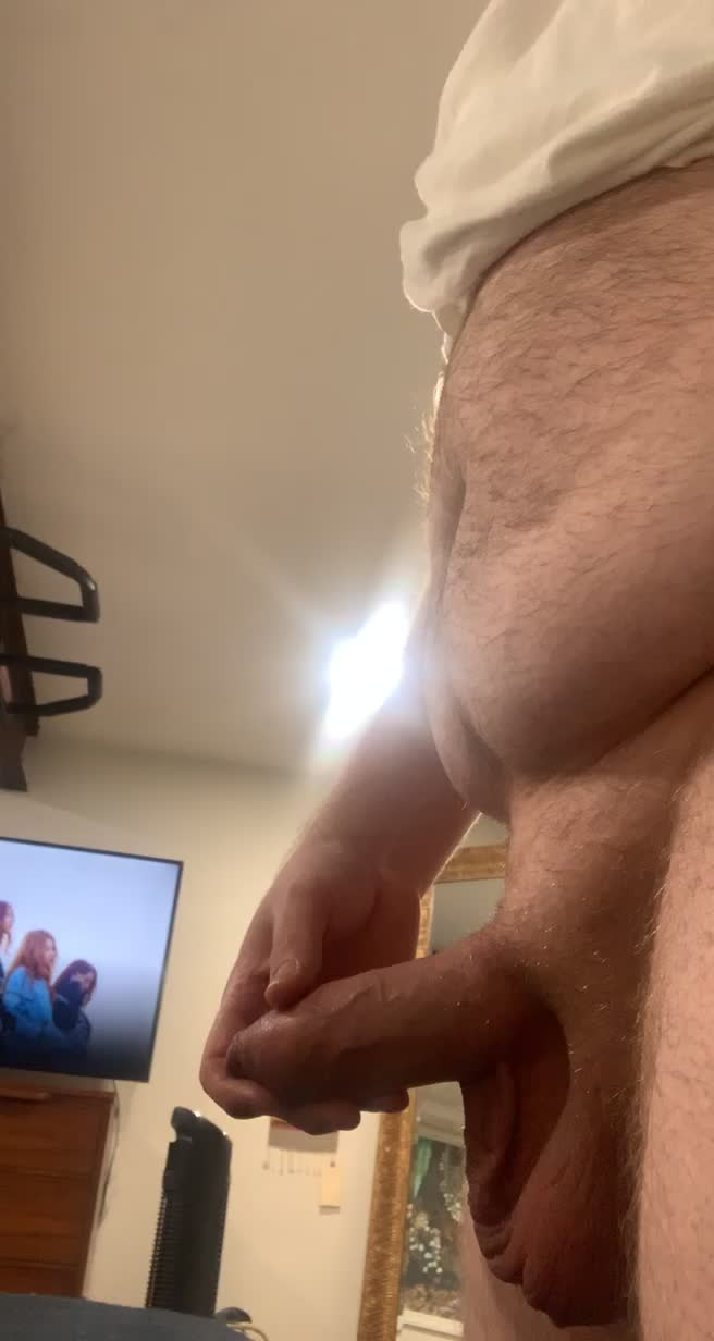 Soft cock trying to fit into pump
