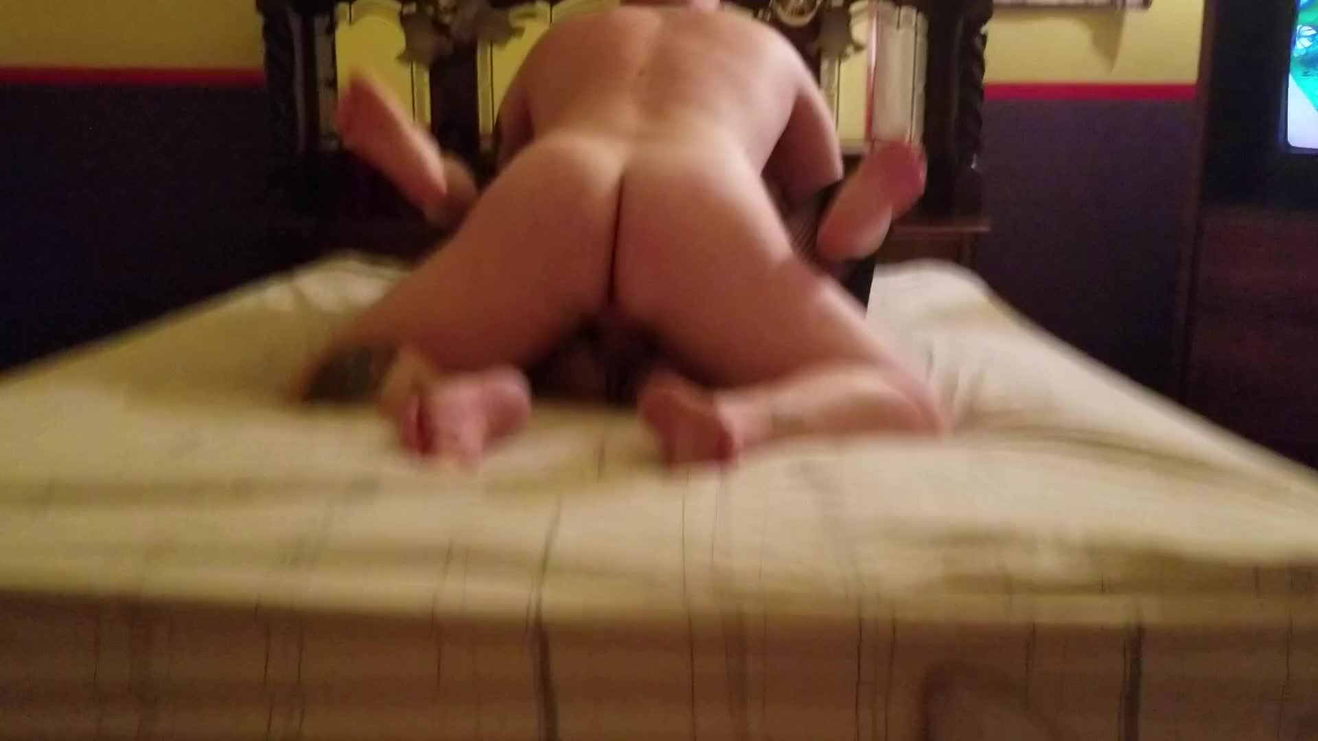(Watch with sound) To hear Scott's balls slapping against me as he fucks me deep. Quite the sound :)