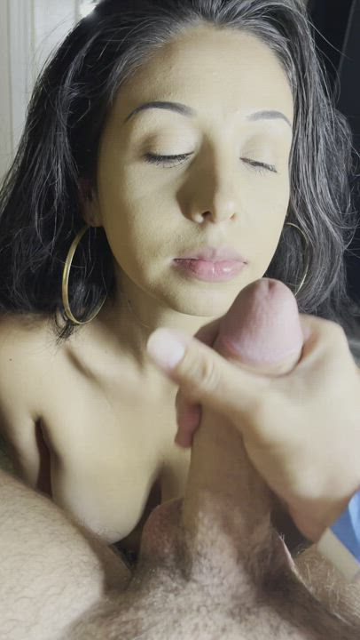 Absolutely love cumming on her pretty face🤤💦