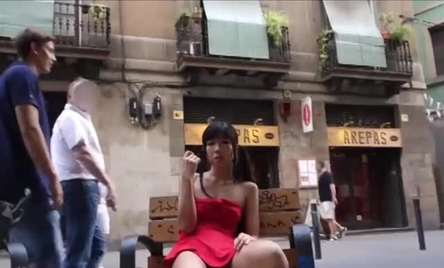 Squirting On A Public Bench [GIF]