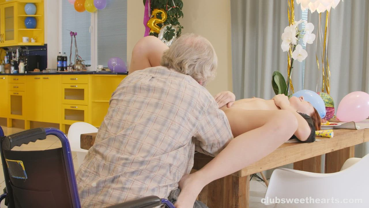 Charlie Red Lets Grandpa Eat Her Out