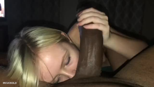 blond Worships Huge BBC