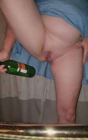 This bottle went up as easily as the wine went down mmm x
