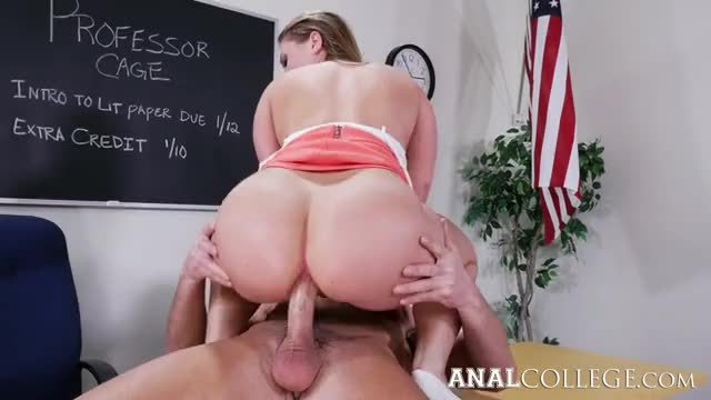 large Wazoo Honey Harley Jade Anal Riding On The Table