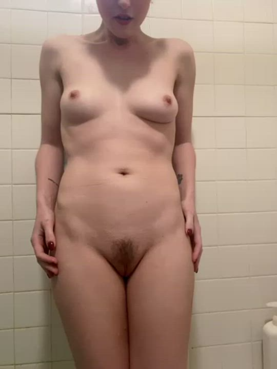 Pissing down my legs in the shower 😘