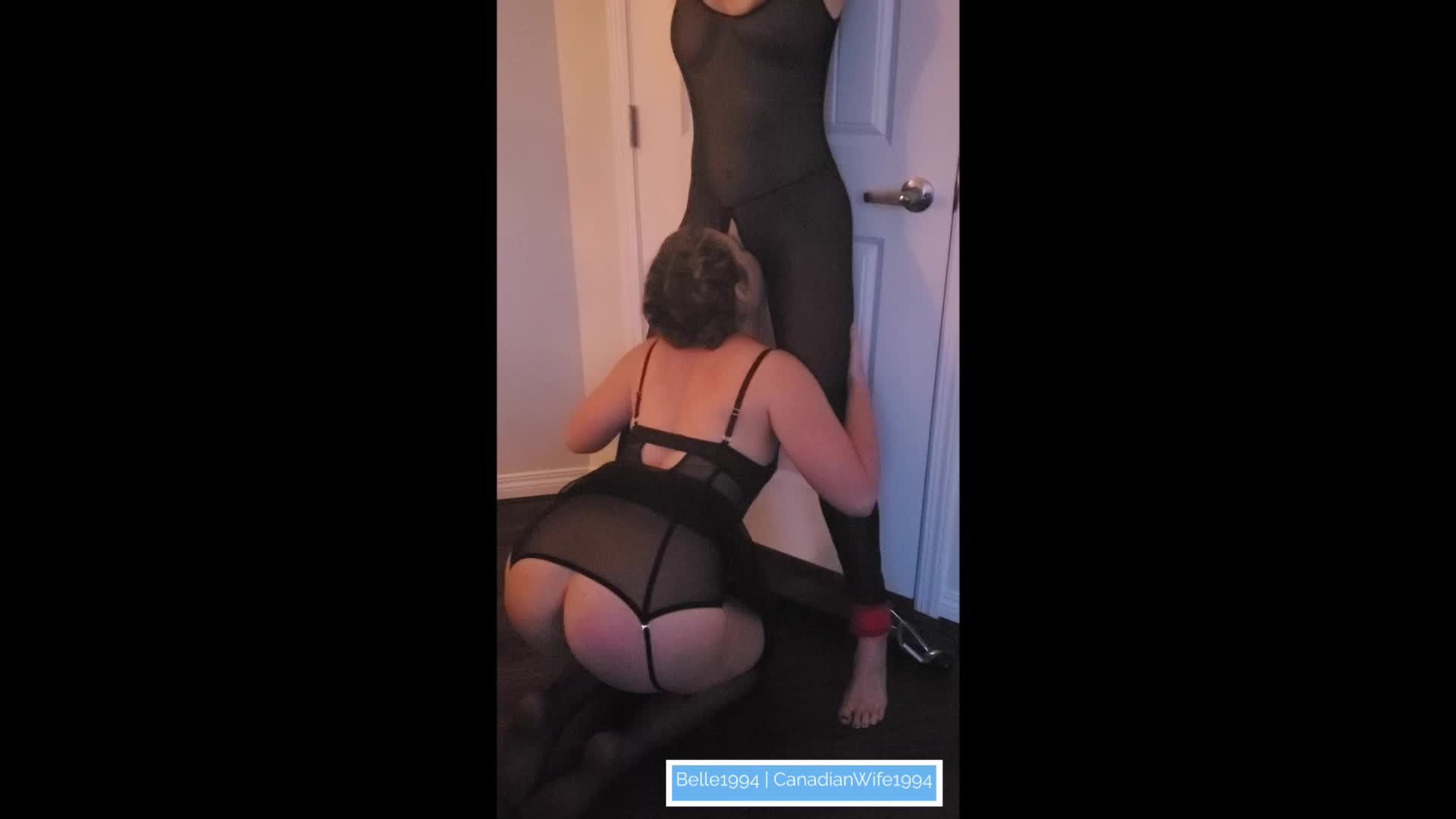 This Is The Very First Time I (26) Go Down On Another Women (45), After Daddy Secured and Blindfolded Her For Me