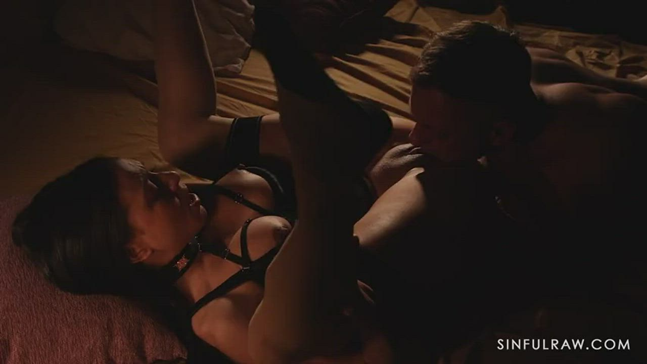 Bondage Brunette Clit Clit Rubbing Erect Nipples French Legs Up MILF Master Master/Slave Orgasm Pussy Eating Pussy Licking Shaved Pussy Slave Spreading Submission Submissive Tight Pussy Wet Wet Pussy