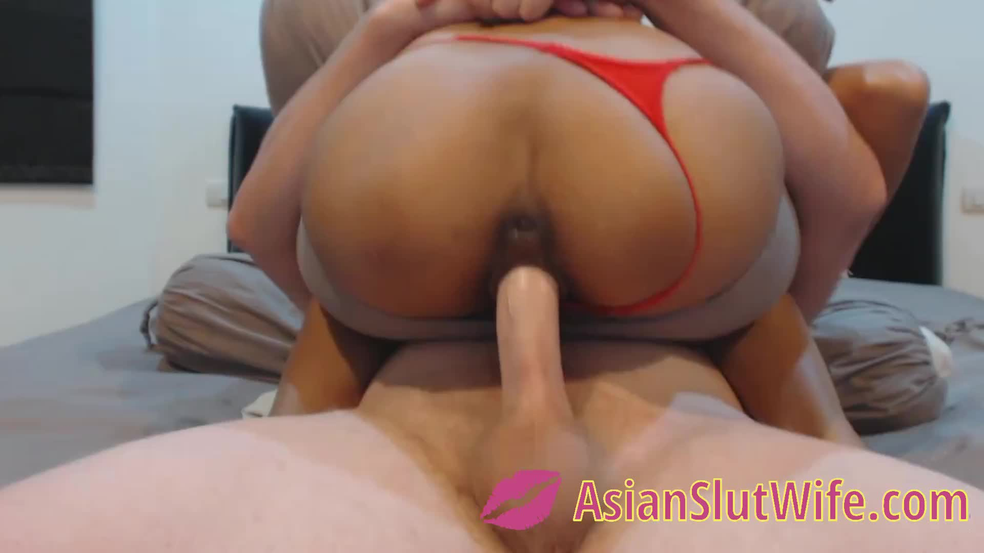 Squatting on a hard dick with my tight pussy
