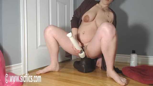 grinding On A Biggest BBC Sex-toy Makes Her Cum Hard!