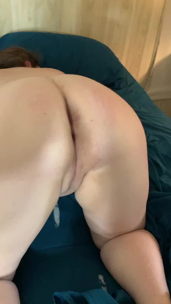 He loves to admire and play with my freshly pounded and filled pussy