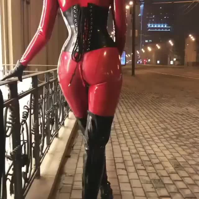 Outside latex in the evening