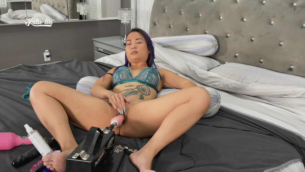 My tight ass pussy getting destroyed by new toy
