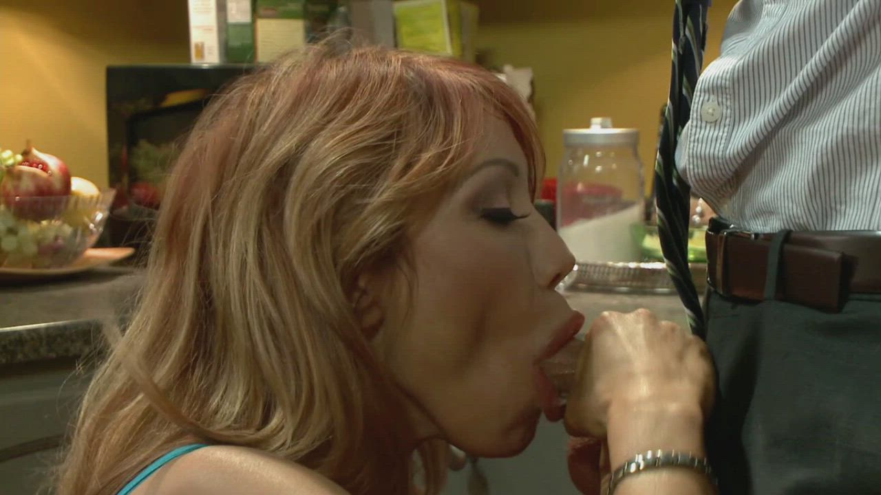 Ava Devine taking a morning throatful to hide her cheating