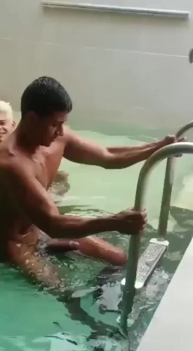 hard dick in the pool