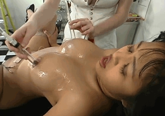 The Dr makes Mika Tan's eyes roll in pleasure from the intense nipple suction and electro-stim